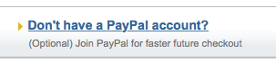 Don't Have Paypal Account